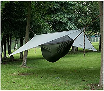 Naturehike New Upgrade 1 Person Hammock with Bed Mesh Ultralight Waterproof Hanging Tent (gray+ & Naturehike New Upgrade 1 Person Hammock with Bed Mesh Ultralight ...