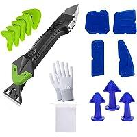 3 in 1 Sealant Afwerking Tool Set, Lre Co. 15 Stks Siliconen Caulking Tool Kit met Schraper, Mondstuk Afwerking en…