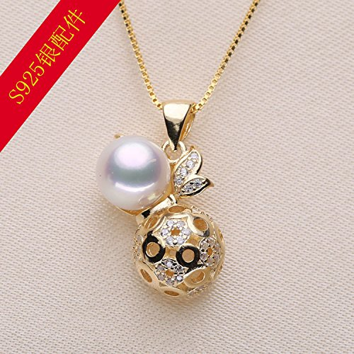 My DIY ended accessories 925 silver pearl necklace pendant Micro Pave hoist models necklace pendant pendant necklace pendant handmade jewelry mountings