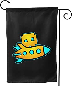 "OTHERS Geometry Dash 3 Festive Garden Flag Front Door Decoration Family Banner Fashion 28""x40"""