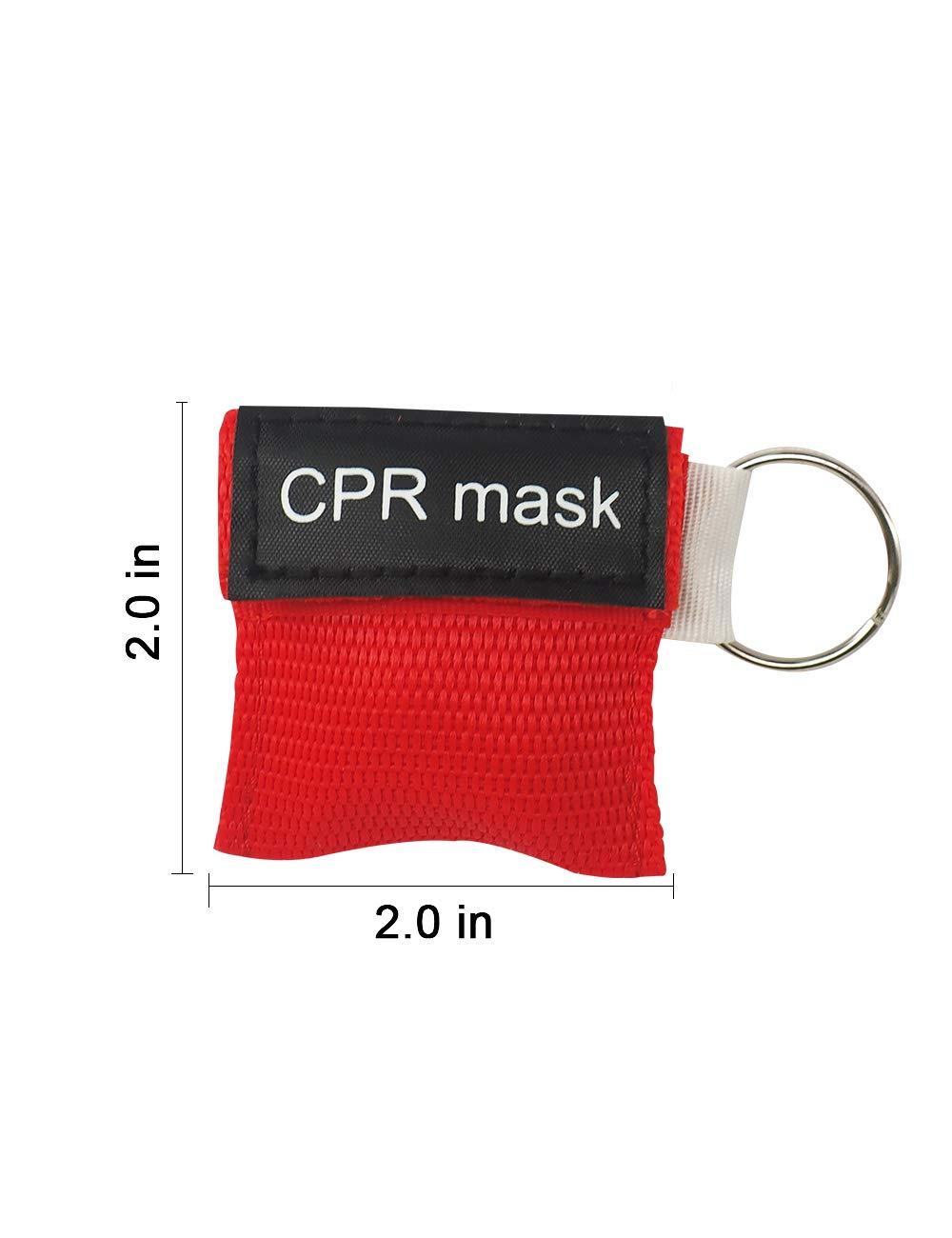 Amazon.com: Máscara CPR llavero con válvula de una sola ...