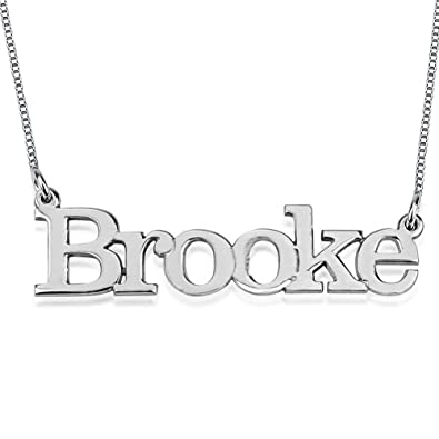 Buy HACOOL Women s Name Necklace Pendants 18K Gold Plated Custom Make Any  Names (Name Necklace Silver) Online at Low Prices in India  67a6096ff7