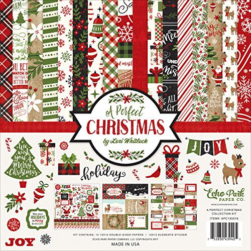 Echo Park Paper Company a Perfect Christmas Collection Kit -