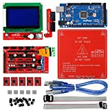 KOOKYE 3D Printer Kits included RAMPS 1.4 Board + Mega 2560 R3 board + LCD12864 Smart Controller + PCB Heated Bed + 5 Pcs A4988 Stepper Motor Driver