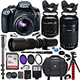 Canon EOS Rebel T6 DSLR Camera with 18-55mm IS II Lens Bundle + Canon EF-S 55-250mm f/4-5.6 IS STM Lens and 500mm Preset Lens + 32GB Memory + Filters + Monopod + Spider Tripod + Professional Bundle