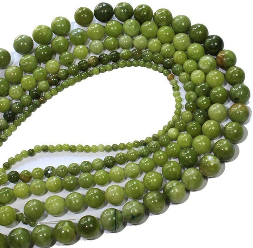 DIY Jewelry Making Bracelet Necklace Beads Grade AAA+4681012mm Smooth China Jades Beads Natural Stone Beads Round Stone Beads