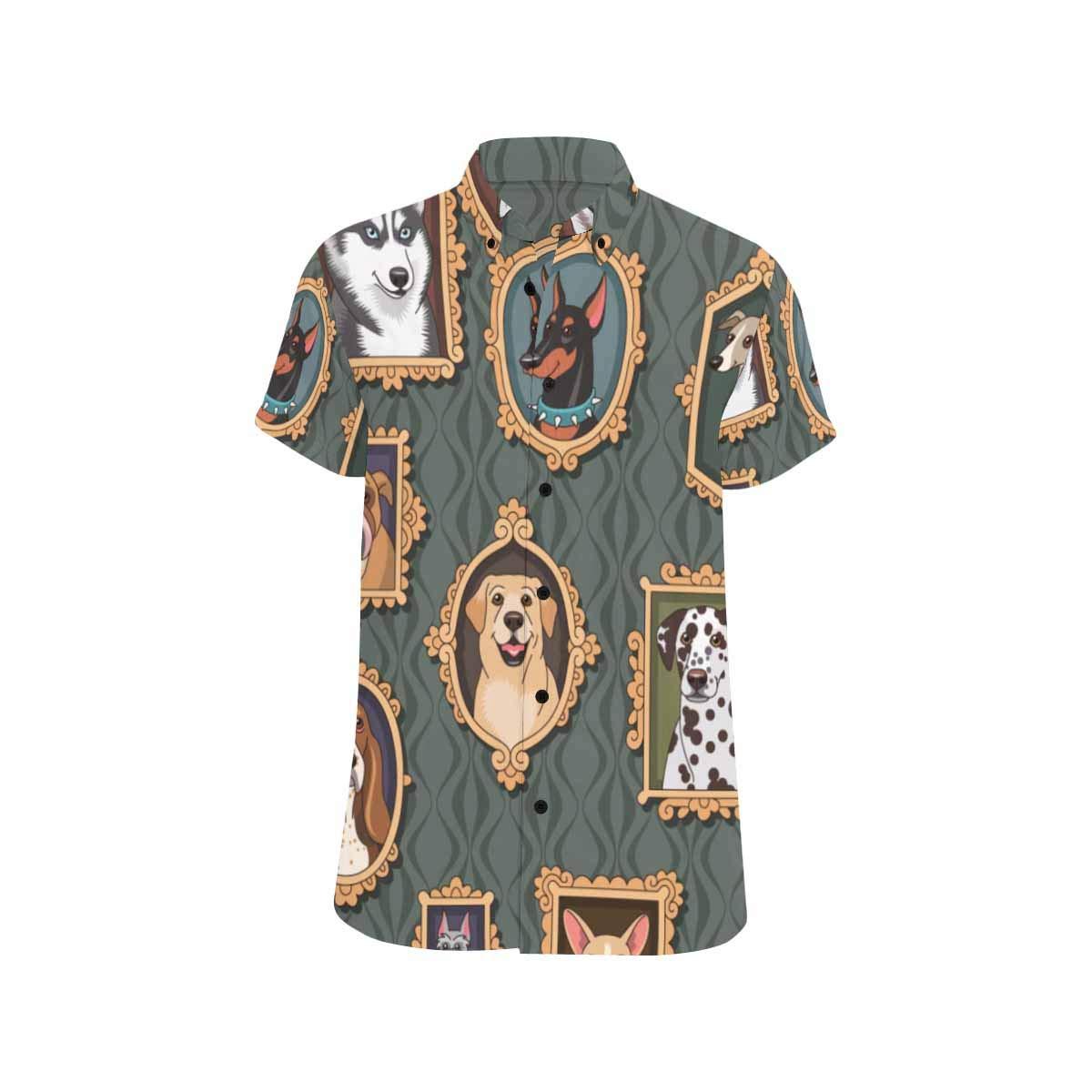 InterestPrint Men Botton Up T-Shirt Cute Unicorn Shine Stars Sparkles Flash Regular Fit T-Shirts S-5XL