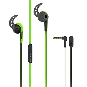 Vivanco SPX 40 Black Sport de oído Auricular con micrófono Graves (potentes, unverknüllbarer Cable): Amazon.es: Electrónica
