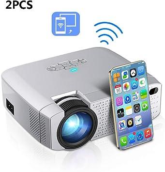 ZUKN Mini Proyector Portátil Altavoz Incorporado HD 1080P LED 3D ...