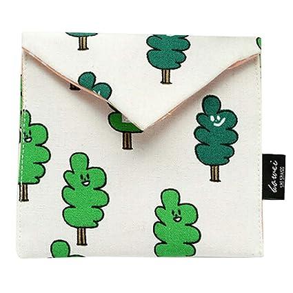 Amlaiworld - Mini monedero de tela con cremallera, bolsa de ...