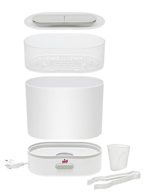BPA-Frei Abschaltautomatik NIP Vaporisator 3in1: Sterilisator Dampfgarer /& Flaschenw/ärmer mit Signalfunktion