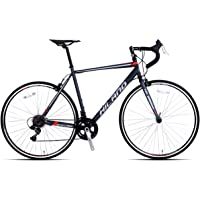 Hiland 700c Road Bike, Steel City Commuter Bicycle with 14 Speeds Drivetrain 3 Colors