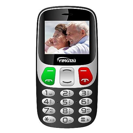 Teléfono Móvil para Personas Mayores con Teclas Extra Grandes Celular con SOS Botones by YINGTAI T47
