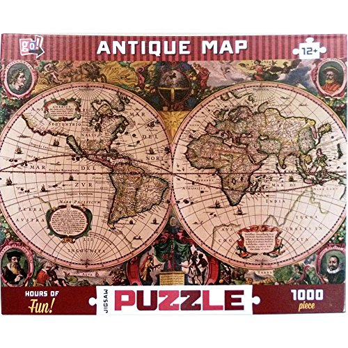 Antique Map 1000 Piece Puzzle by Go! Games
