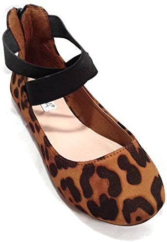 leopard flats with ankle strap