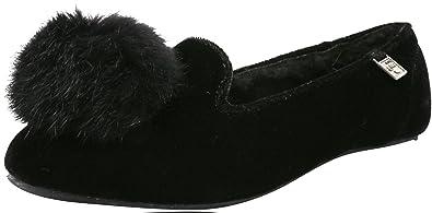 BEARPAW Women's Shae Slipper, Black, ...