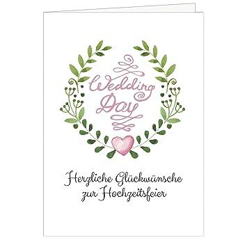Grosse Gluckwunschkarte Zur Hochzeit Xxl A4 Wedding Day Rosa Herz