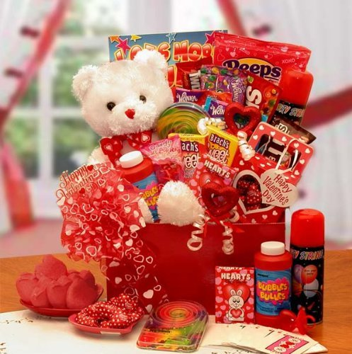GiftBasketsAssociates Bear of Hearts Valentine Gift Box for Kids