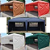 Generic YCUS150720-184 <8&11781> randomTent Foldin Folding Gazebo Beach 10¡¯X20¡¯ EZ POP UP Canopy W/Carry Bag Wedding Party Tent color random 10¡¯X20¡¯ EZ