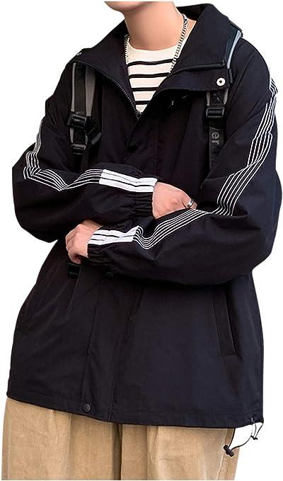 [ゴスファング] スプリング ジャケット アウター 長袖 薄手 スナップボタン ライン カジュアル ビジネス 春 秋 メンズ