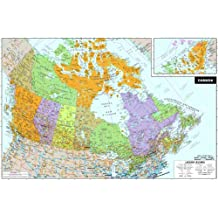 WallPops WPE0255 Canada Peel and Stick Dry-Erase Map