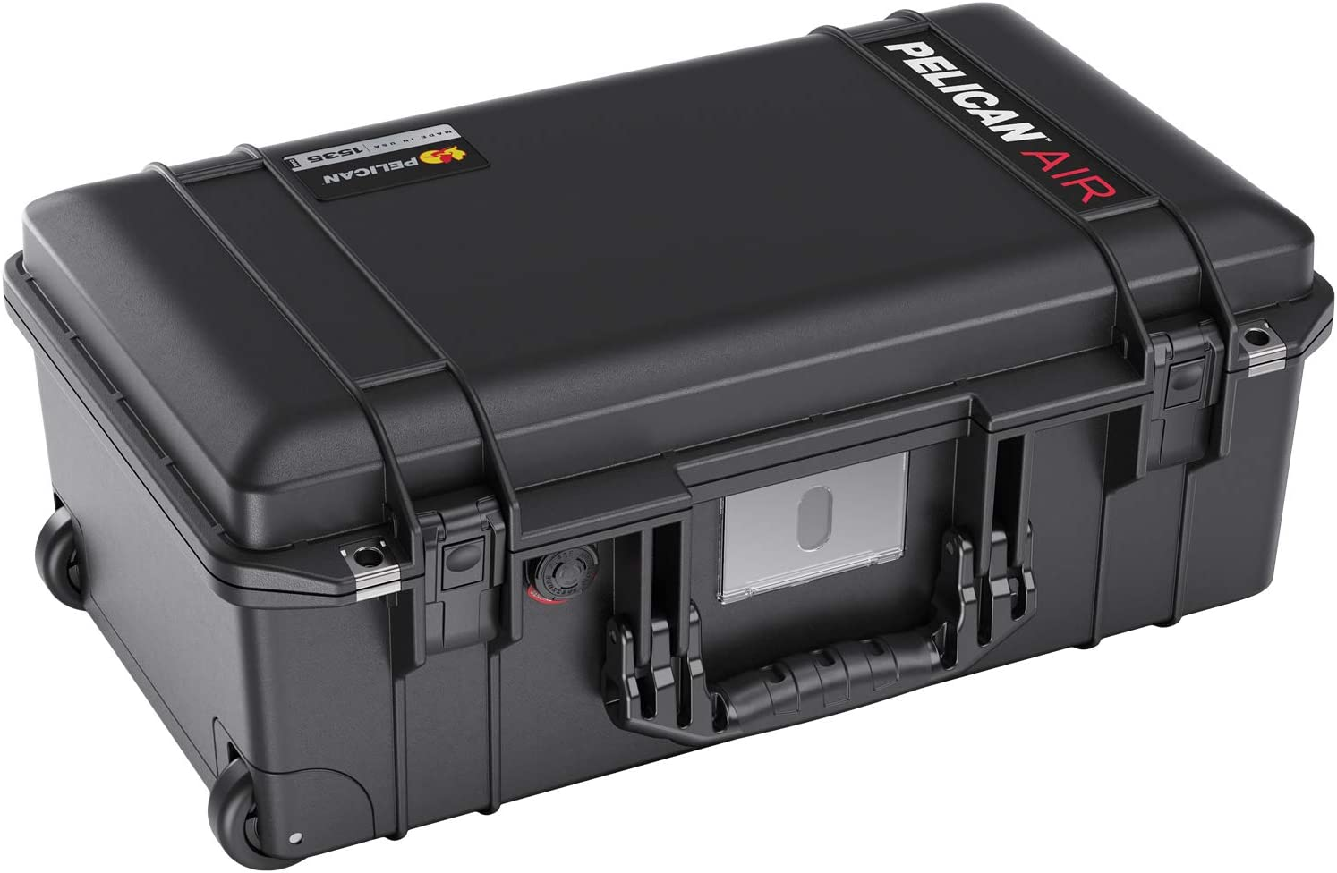 Pelican Air 1535 Case with Padded Dividers (2020 Edition with Push Button Latches) - Black (015350-0042-110)