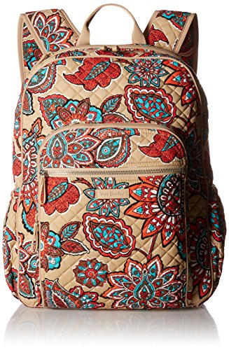 Vera Bradley Iconic Campus Backpack, Signature Cotton, Desert Floral + 1.50 Power