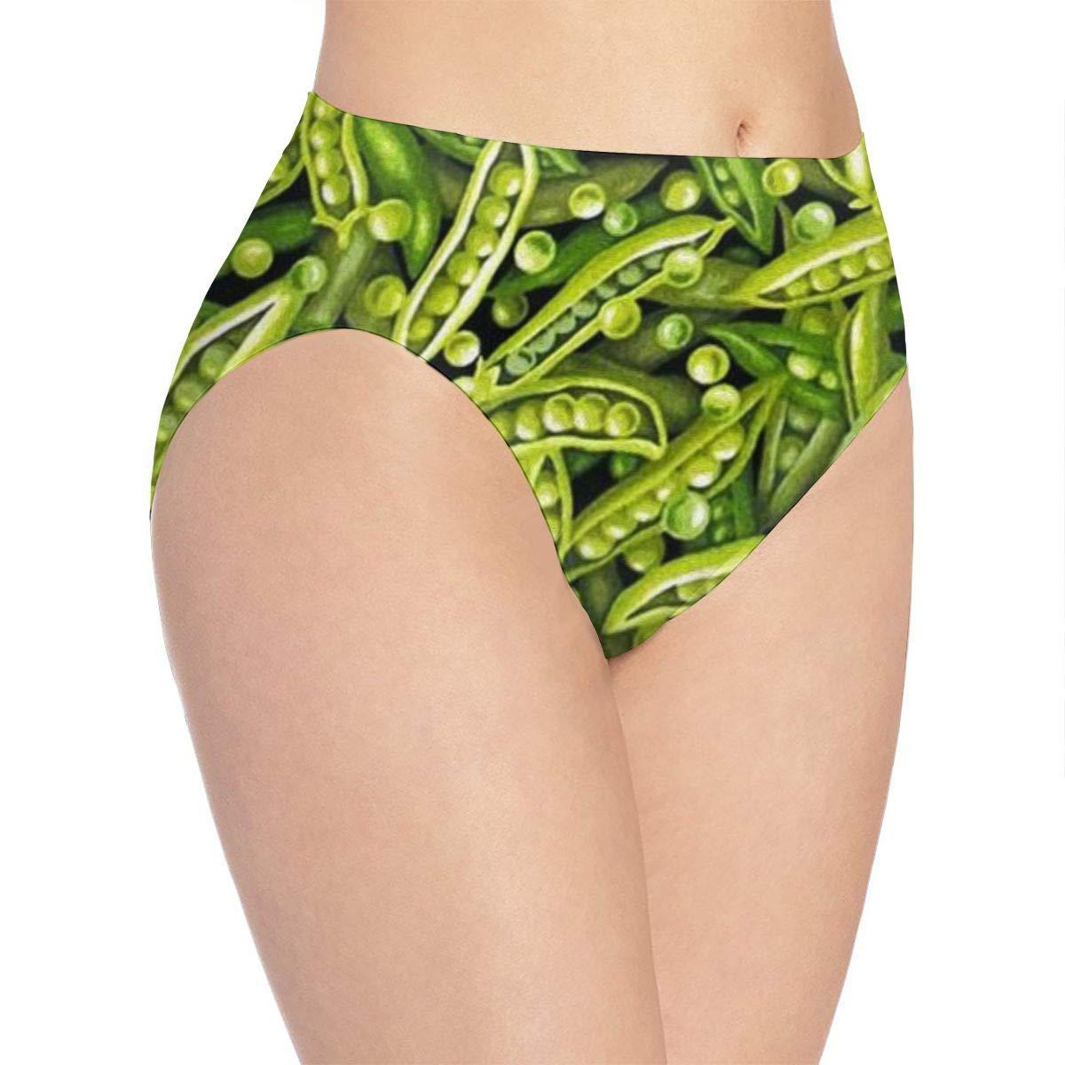 SweetieP Womens A Lot of Peas Bikini Briefs Comfy Full Coverage Underwear
