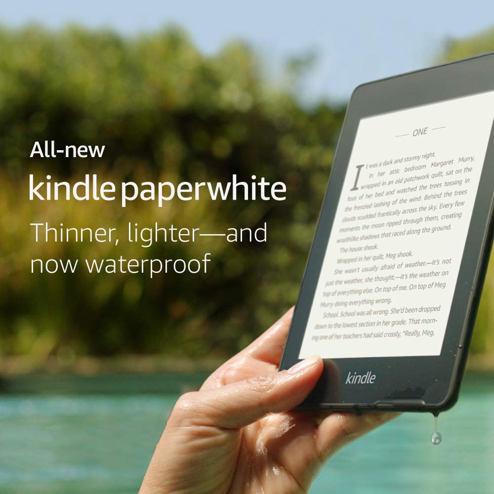 Amazon.com: All-new Kindle Paperwhite – Now Waterproof with 2x the Storage  – Includes Special Offers: Kindle Store
