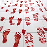 Key Largo Traders Bloody Footprints – Set of 50 Floor Clings - Includes Zombie Skeleton Werewolf Human Boot and Blood Splatter Decals for Halloween Party Decorations Supplies Props & Decor