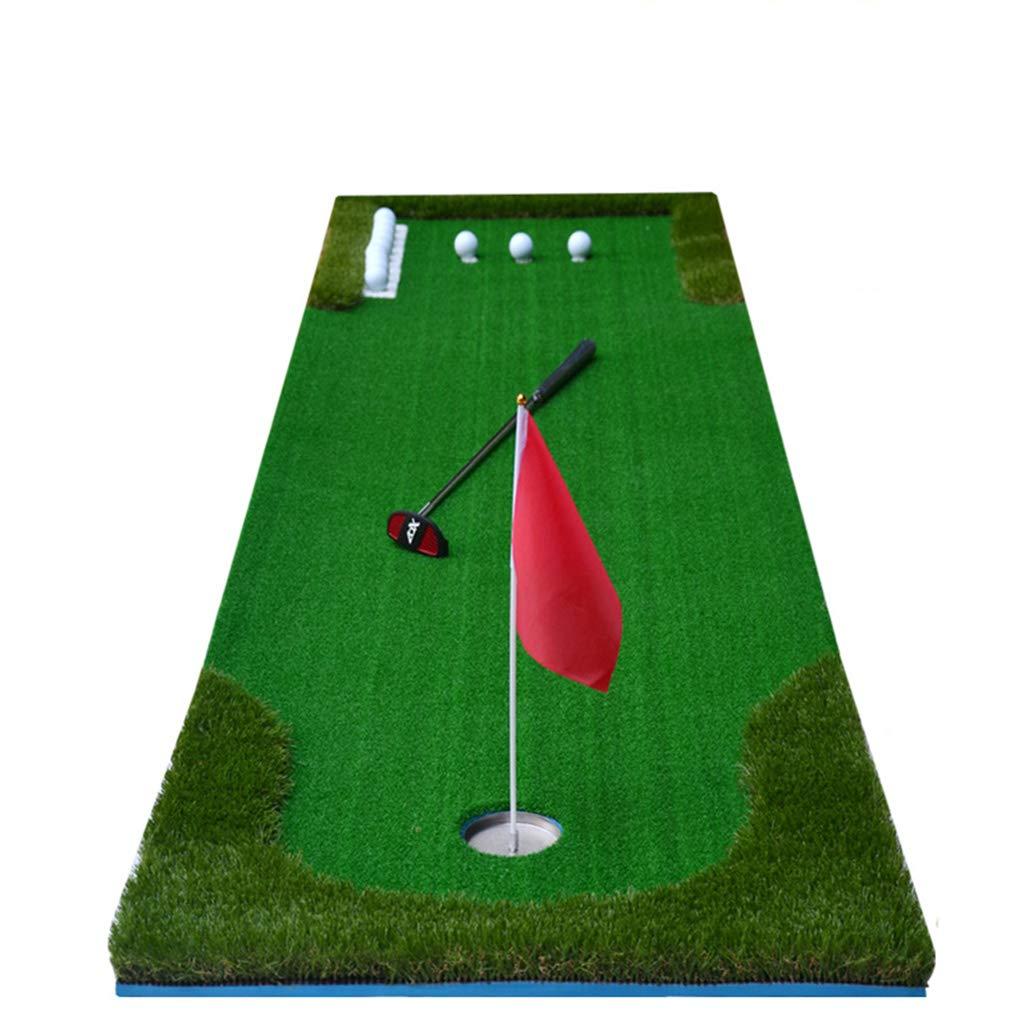 ゴルフフード 屋内ゴルフパッティング練習オフィスホームベルベットグリーンパター練習毛布   B07MBPPDRN