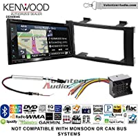 Kenwood Excelon DNX694S Double Din Radio Install Kit with GPS Navigation System Android Auto Apple CarPlay Fits 2004-2010 Volkswagen Touareg