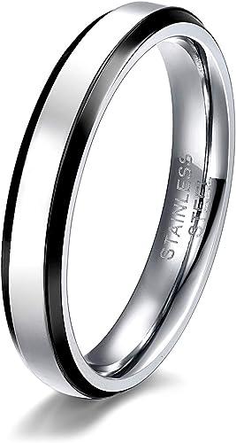US Unisex Blue Black Gold Silver Rose Gold Plain Wedding Dome Titanium Ring Band