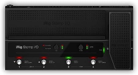 iRig Stomp I/O - Pedalera controlador USB que integra una interfaz de audio para Mac, PC, iPhone y iPad