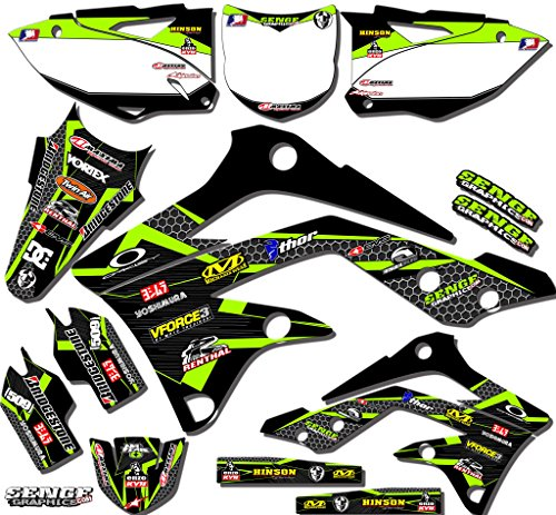 Senge Graphics 2013-2015 Kawasaki KXF 450, Podium Black Graphics Kit (Kawasaki 450 F compare prices)