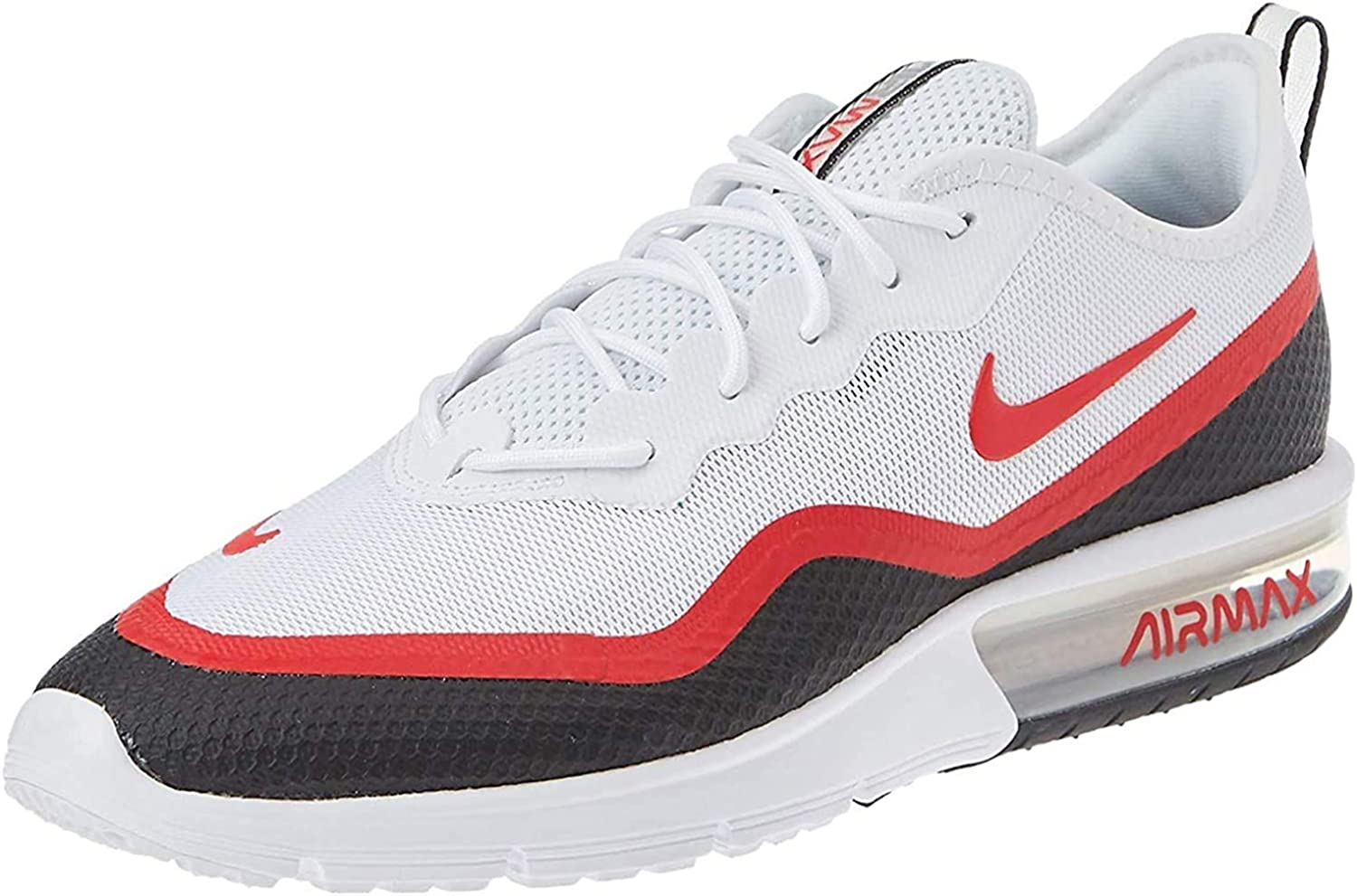 Nike Air Max Sequent 4.5 Se, Chaussures d'Athlétisme Homme Multicolore White University Red Black Wolf Grey 000