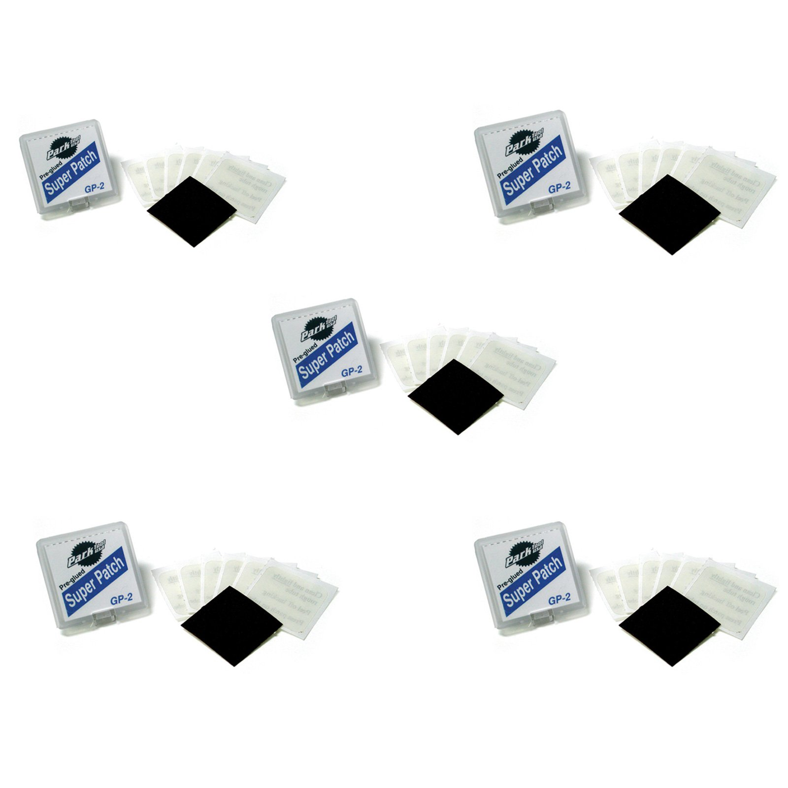Park Tool GP-2 Pre-Glued Super Patch Puncture Repair Kits (Pack of 5 Kits) by Park Tool (Image #1)
