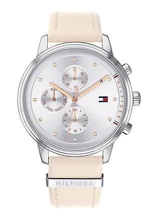 Tommy Hilfiger Reloj Multiesfera para Mujer de Cuarzo con Correa en Cuero 1781906: Amazon.es: Relojes