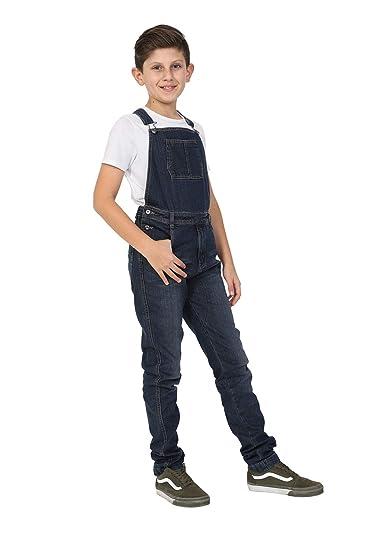 61e5fa5e1 Wash Clothing Company Boys Darkwash Denim Dungarees Age 4-14 Years Slim Fit  Overalls KID047DARK  Amazon.co.uk  Clothing