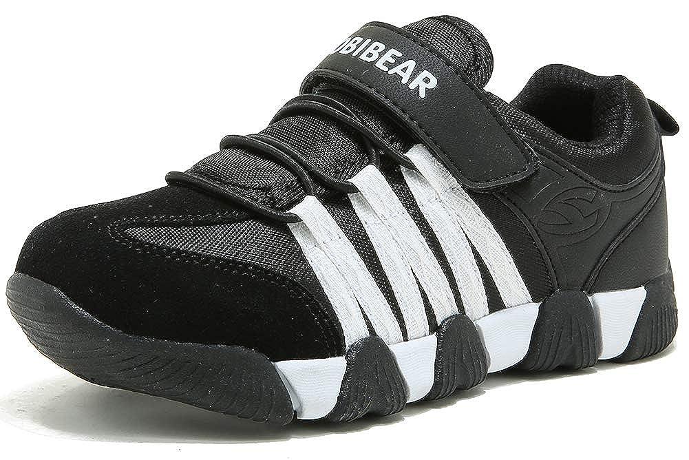 ODOUK Boys Girls Sneakers Kids Outdoor Tennis Running Athletic shoes Black White