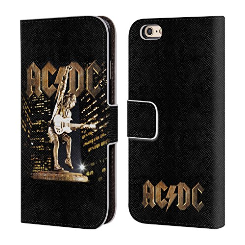 Officiel AC/DC ACDC Flegme Art D'album Étui Coque De Livre En Cuir Pour Apple iPhone 6 / 6s
