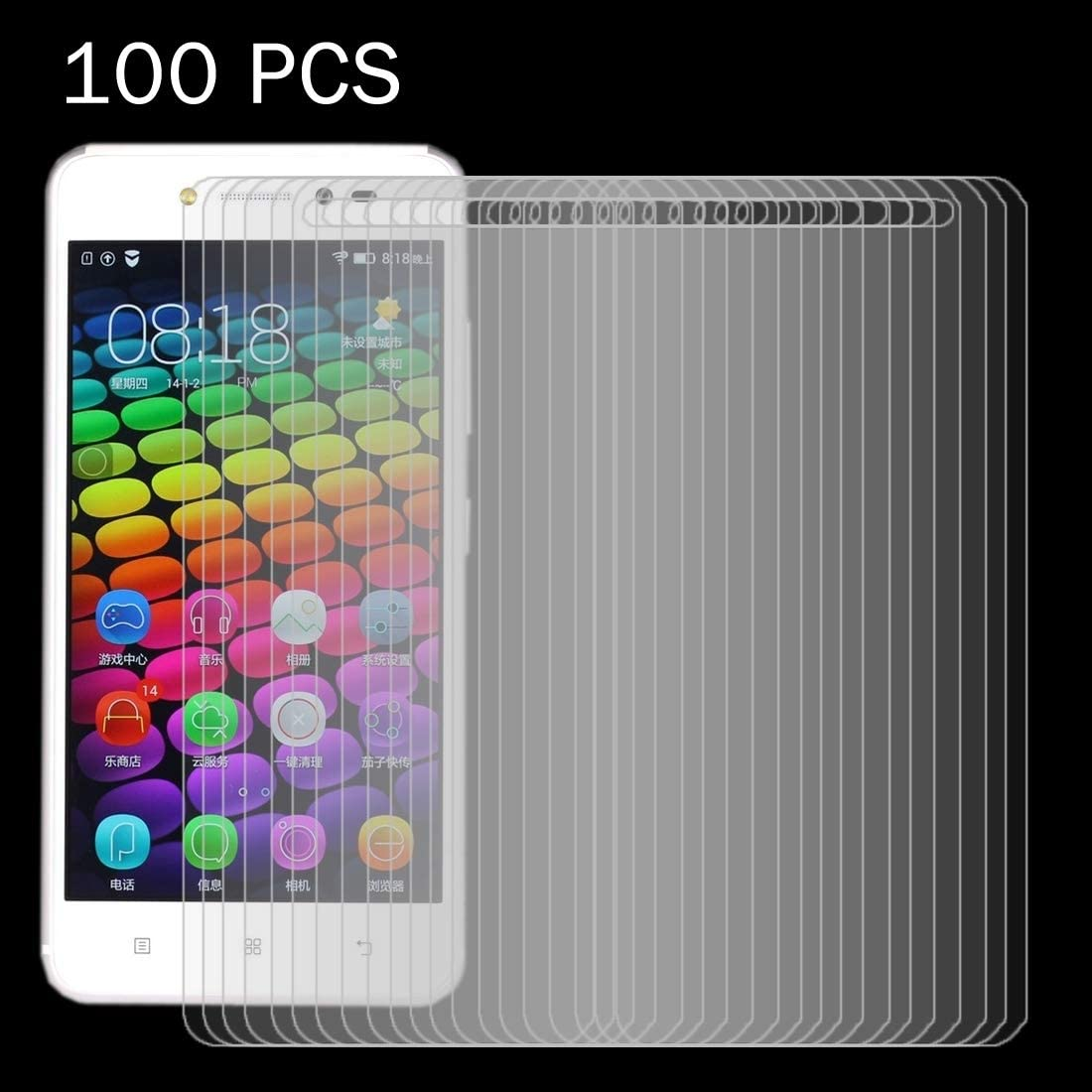HAIJUN Phone Screen Film 100 PCS 0.26mm 9H 2.5D Tempered Glass Film for Asus ZenFone Max Pro M1 ZB601KL Anti-Scratch Tempered Glass