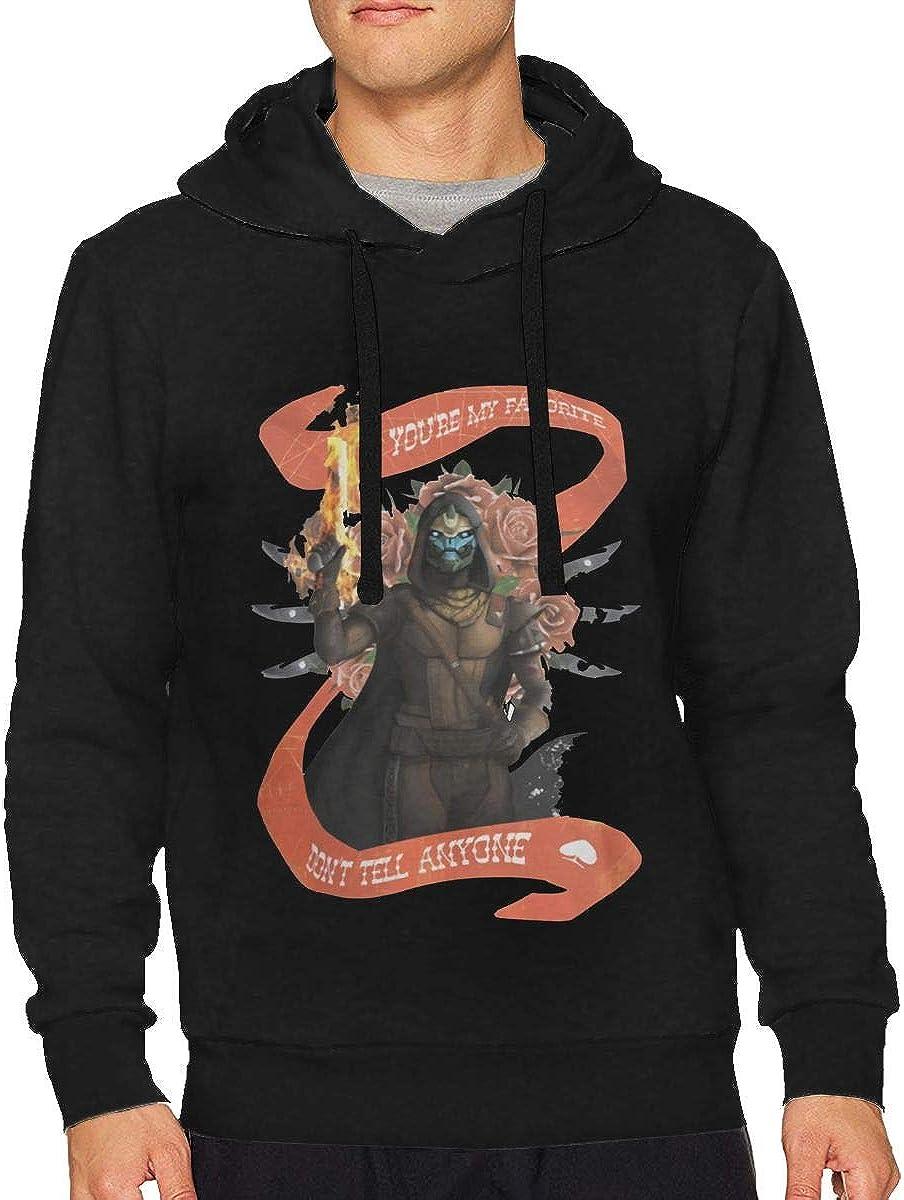 Heyuchuan Unisex Hoodie Destiny-2 Forsaken Cayde Graphic Printed Hooded Sweatshirt Top