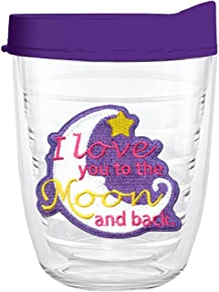 product image for Smile Drinkware USA-I LOVE YOU TO THE MOON AND BACK MOON 12oz Tritan Insulated Tumbler With Lid and Straw