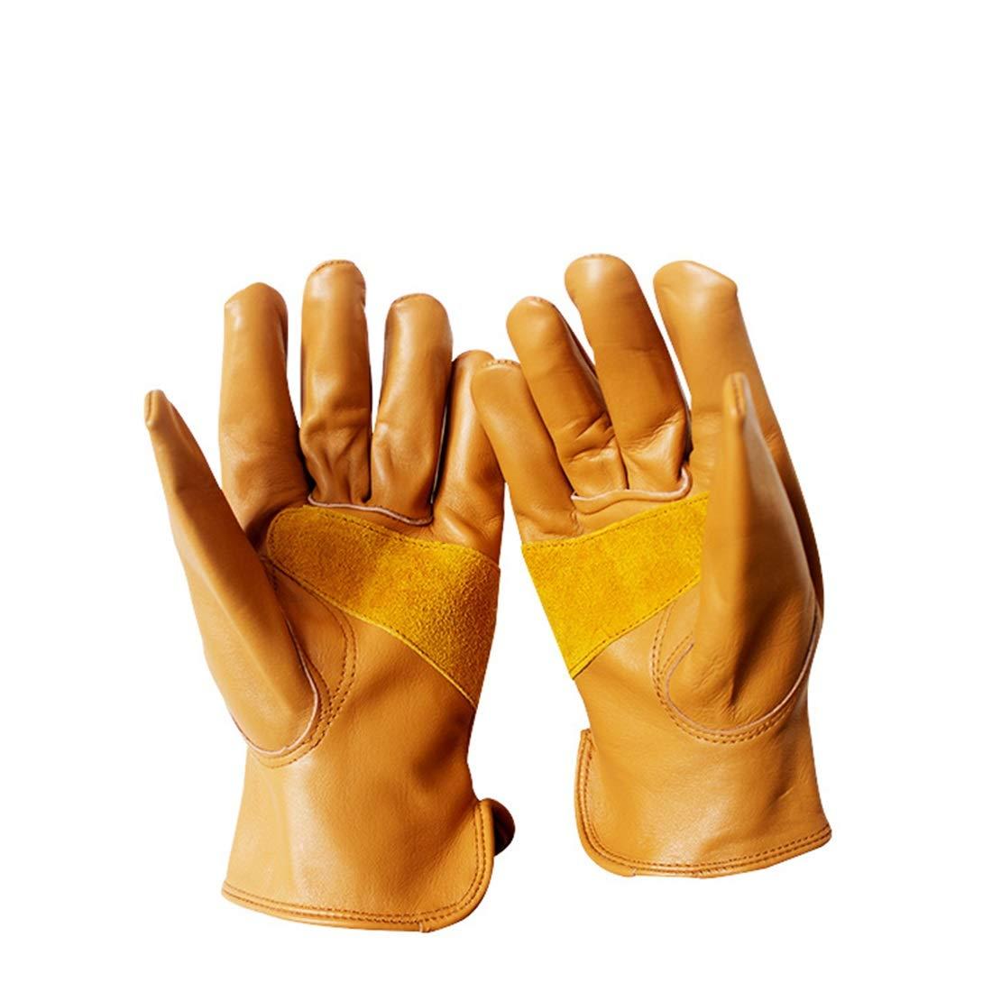 JESSIEKERVIN YY3 Outdoor Riding Handschuhe Braun Leder Fahrer Handschuhe Short Style Vollleder Soft Wear Resistant Handschuhe