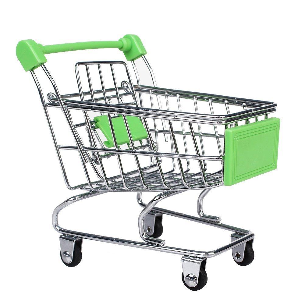 ミニスーパーマーケットショッピングカートおもちゃ グリーン B01D8Y4G3G  グリーン