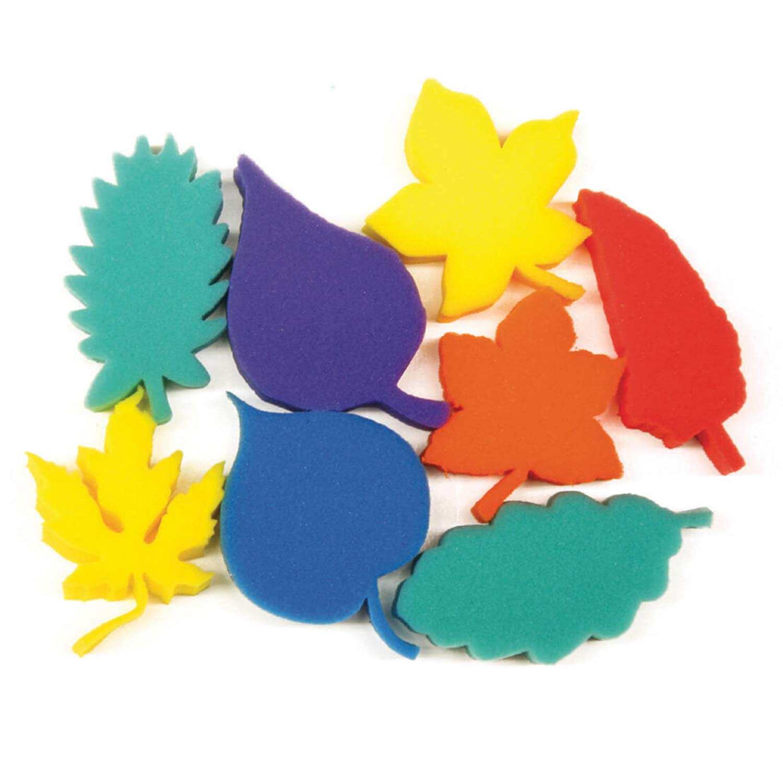 Creativity Street PACAC9077BN Paint Sponges, Leaves, 3'', 8 Per Set, 3 Sets by Creativity Street