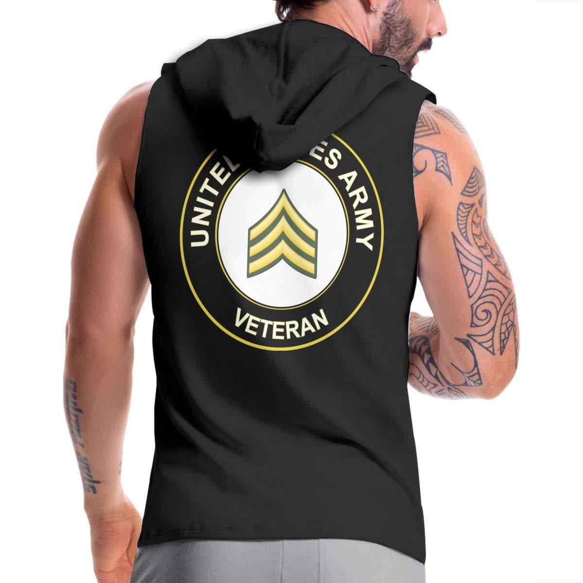 NMBOJR US Army Sergeant Veteran Mens Hipster Hip Hop Hoodies Shirts