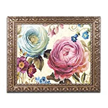 Trademark Fine Art Victorias Dream III Wall Decor by Lisa Audit, 16-Inch X 20-Inch, Gold Ornate Frame