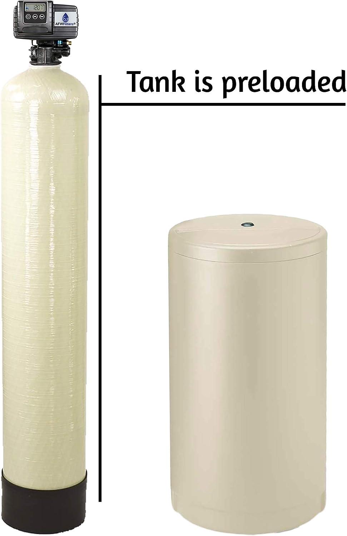 Iron Pro 2 Combination Fleck 5600SXT Water Softener Preloaded resin tank.